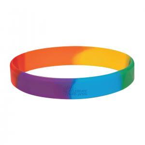 Colorific Rainbow Silicone Bracelet