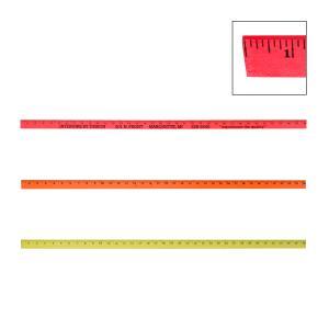 Fluorescent Colorful Enameled Yardstick