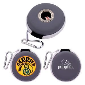 Disc Shaped Bag Dispenser with Carabiner