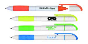 Bright Grip 2-in-1 Pen and Highlighter