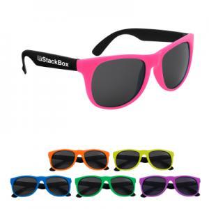 Neon Rubberized Sunglasses