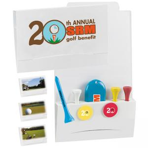 Matchbook Golf Packet with Tees and Divot Tool