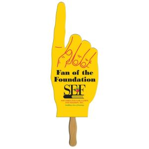Large #1 Finger Pointing Paper Hand Fan