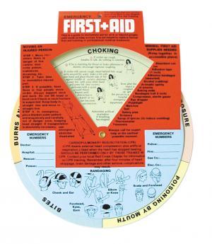 Emergency First Aid Guide Wheel