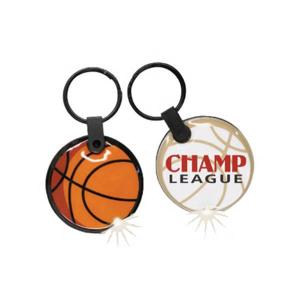 Basketball Shaped Soft Touch Key Tags