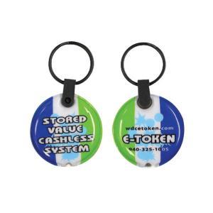 Circle Shaped Soft Touch Key Tag Light