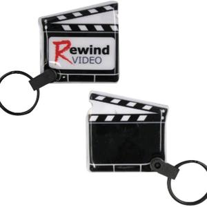 Director's Clapboard Shaped Soft Touch Key Tag Lights