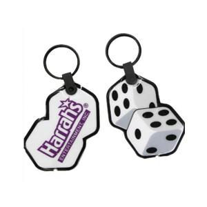 Dice Shaped Soft Touch Key Tag Light
