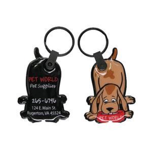 Dog Soft Touch Key Tag Light
