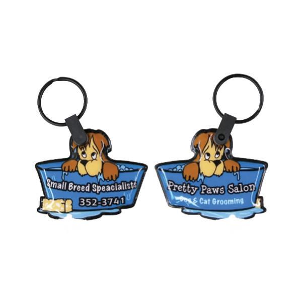Pet Shop Dog Soft Touch Key Tag Light