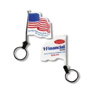 USA Flag Shaped Soft Touch Key Tag Light