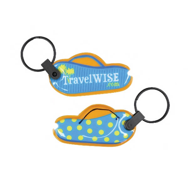 Flip Flop Shaped Soft Touch Key Tag Light
