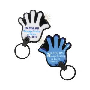Hand Shaped Soft Touch Key Tag Light