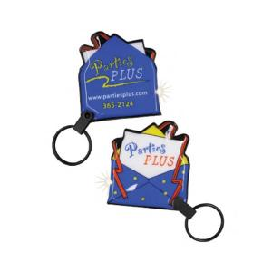 Party Invitation Shaped Soft Touch Key Tag Light