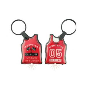 Athletic Jersey Soft Touch Key Tag Light