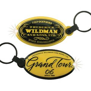 Oval Shaped Soft Touch Key Tag Light
