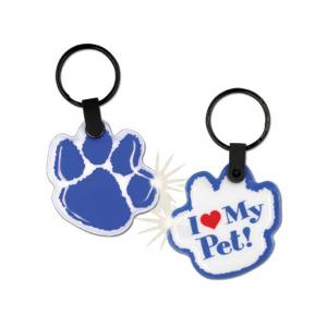 Paw Print Shaped Soft Touch Key Tag Light