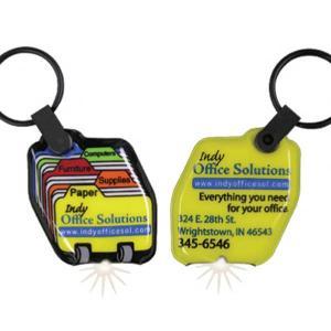 Rolodex Shaped Key Tag Light