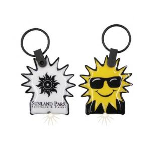 Sunglasses Sun Shaped Key Tag Light