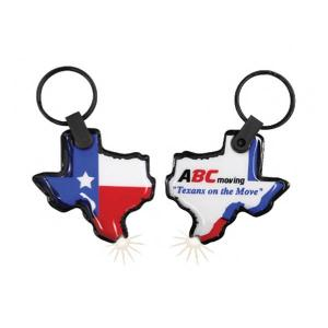 Texas Shaped Key Tag Light