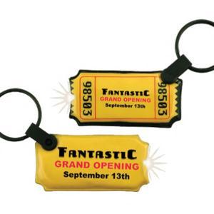 Ticket Shaped Key Tag Light