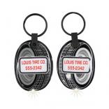 Soft Touch Tire Shaped Key Tag Light