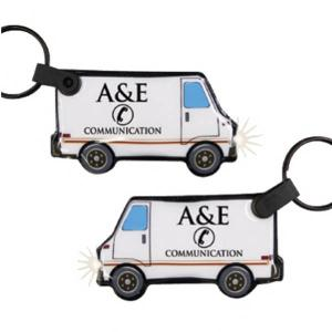 Delivery Van Shaped Key Tag Light