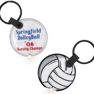 Volleyball Shaped Key Tag Light