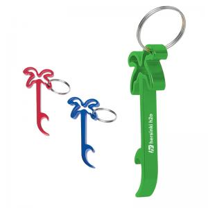 Palm Tree Bottle Opener Keychain