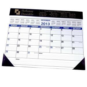 "22"" x 17"" Vinyl Trim Desk Blotter Calendar"