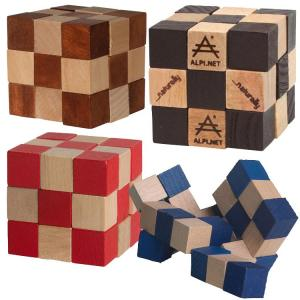 Checkered Cube with Elastic Twist Puzzle