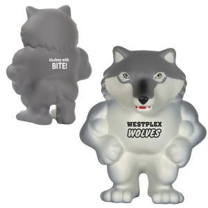 Wild Wolf Husky Mascot Stress Reliever