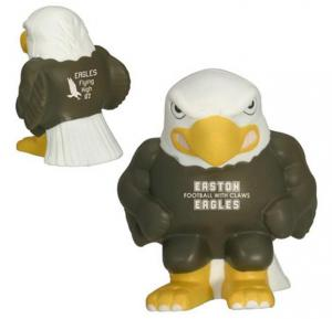 Eagle Mascot Stress Reliever With Logo