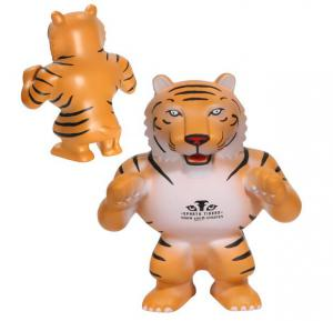 Prowling Standing Tiger Mascot Stress Reliever