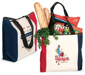 Red White & Blue Zip Tote Bags