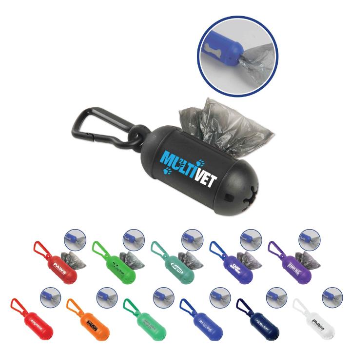 Dog Poop Bag Dispenser with Carabiner