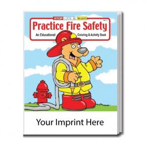 """""""Practice Fire Safety"""" Coloring Book"""
