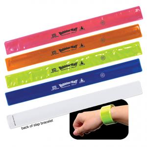 Reflective Safety School Spirit Slap Bracelet