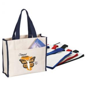 12 Oz. Trim Colored Canvas Tote Bag