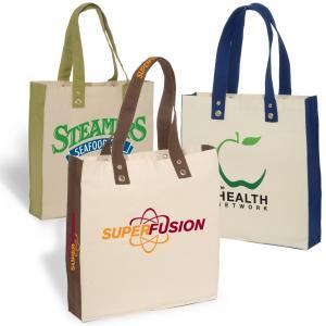10 oz. Studded Hole Eco Friendly Tote Bag