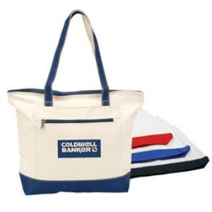 Double Zip Canvas Tote Bags