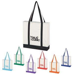 Color Strap Poly Totes