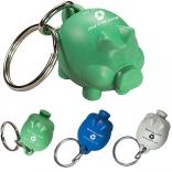 100% Recycled Plastic Piggy Banker Keychain