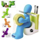 Toilet Man Tape Dispenser & Memo Pad Holder
