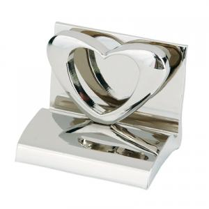 Promotional heart shaped chrome business card holder colourmoves