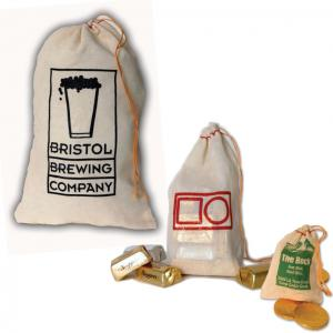 Lightweight Natural Cotton Drawstring Bags in Assorted Sizes