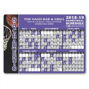 Pro Basketball Sports Schedule Magnet