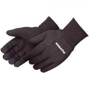 Custom Brown Jersey Work Gloves