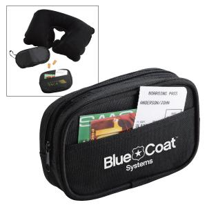 Travel Kit With Earplugs, Eyemask and Pillow