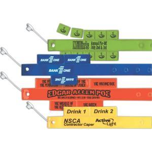 Custom Printed Vinyl ID Wristbands With TearOff Tabs